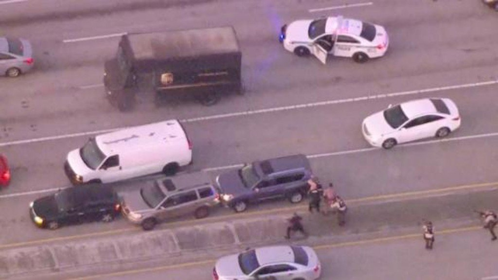 Almost 200 rounds fired in Florida UPS hijacking shootout