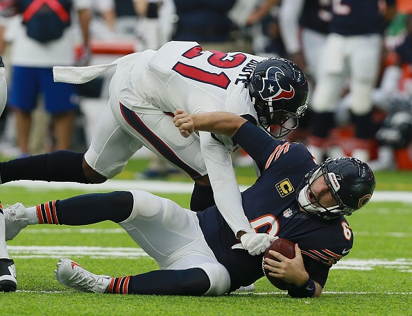 Cutler sacked five times in Bears 23-14 loss at Houston