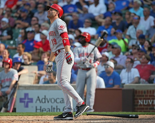 Votto 3-run HR in 9th after Bryant error, Reds beat Cubs 7-4