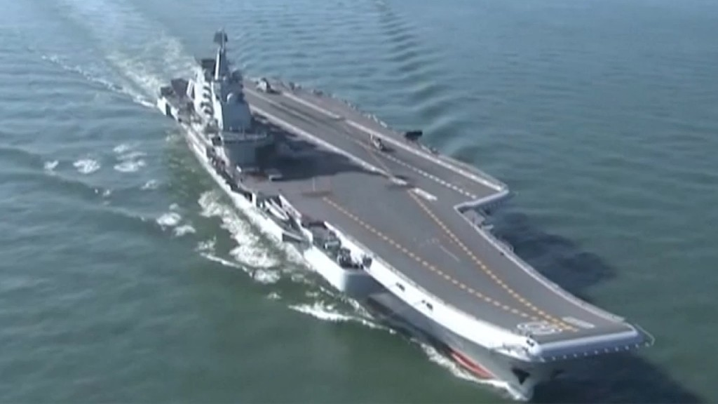 China's first domestically-built aircraft carrier enters service