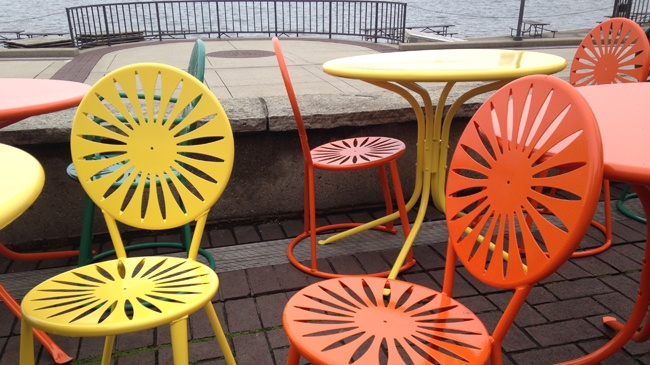 PHOTOS: First chairs, tables return to UW Union Terrace