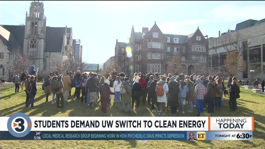 Students demand UW switch to clean energy