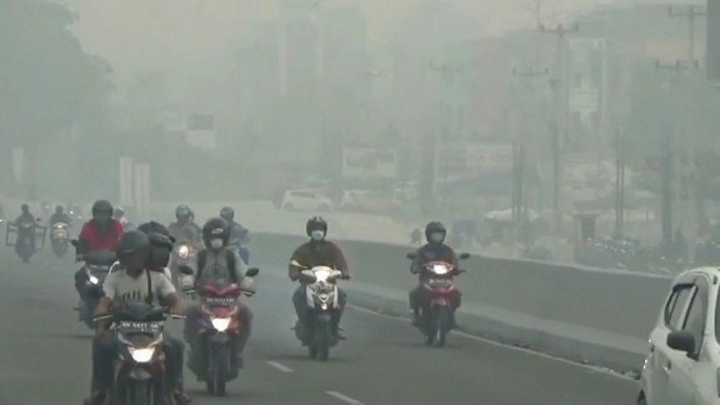 Thick smog from Indonesian forest fires reaches hazardous levels