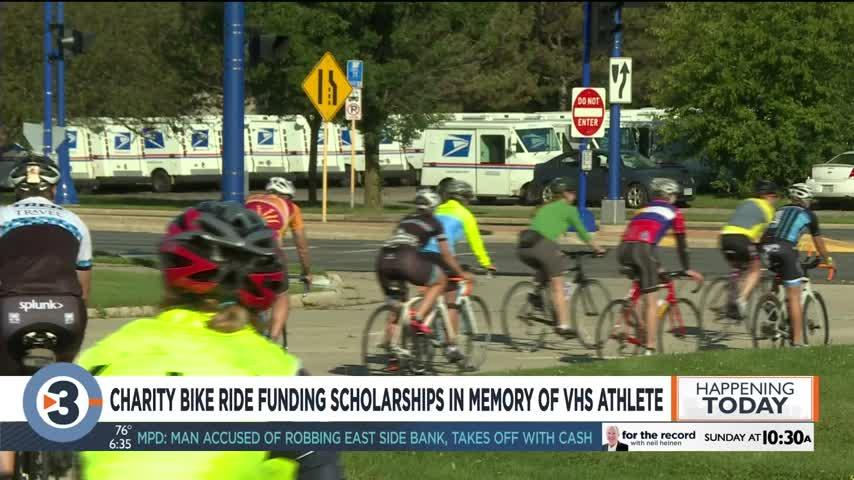 Charity bike ride funding scholarships in memory of VHS athlete