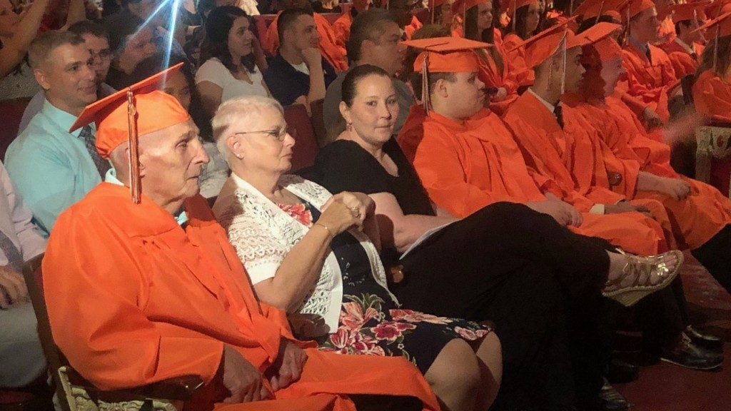 87-year-old man receives high school diploma
