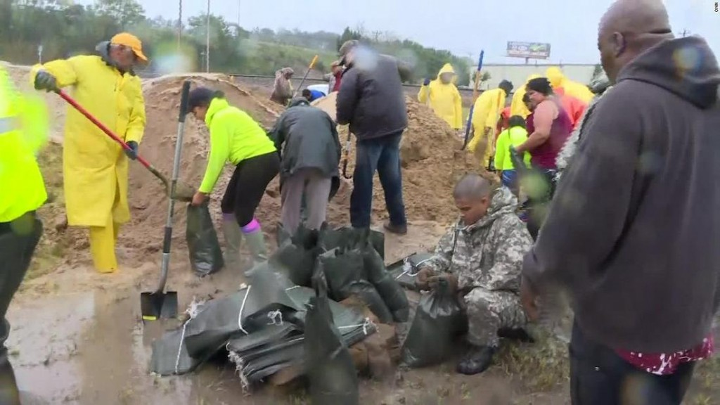 Over 100 volunteers unite to prevent flooding in North Carolina community
