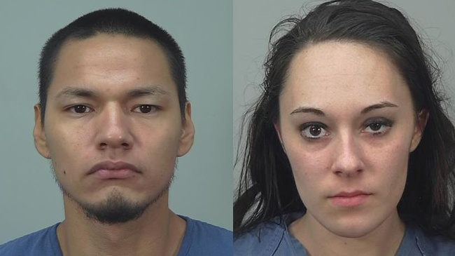 Two people arrested for retail theft after foot chase