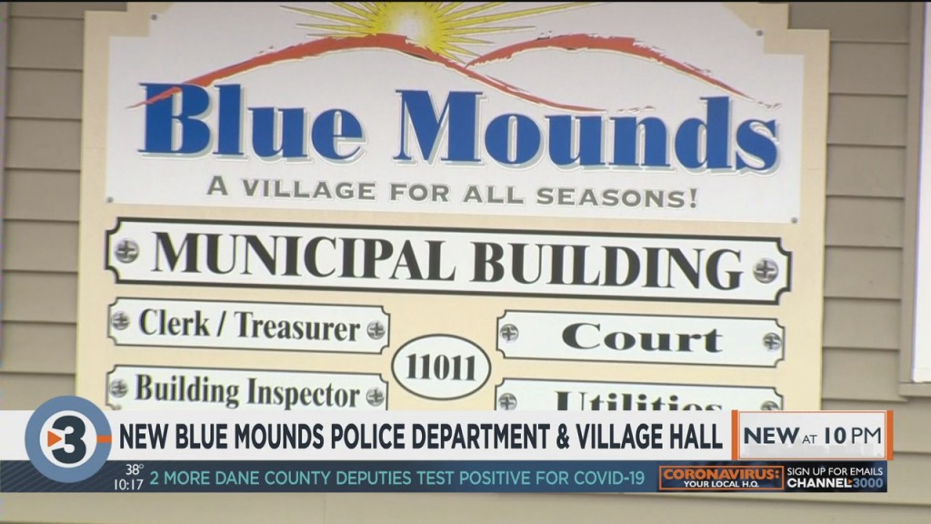 Looking At The New Blue Mounds Police Department, Village Hall