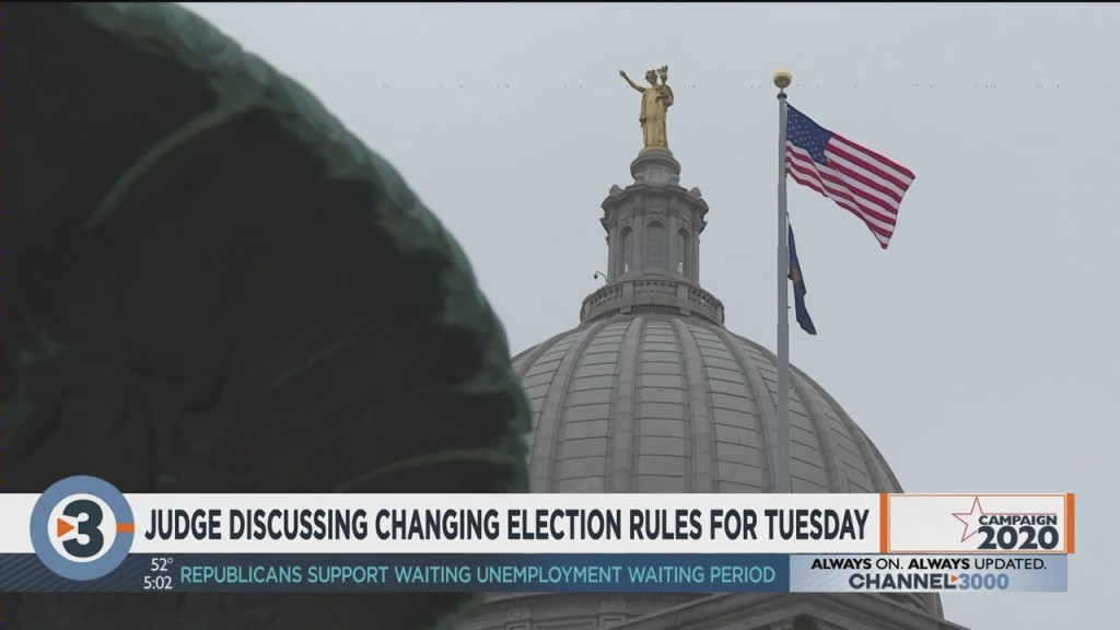 Judge Discussing Changing Election Rules For Tuesday