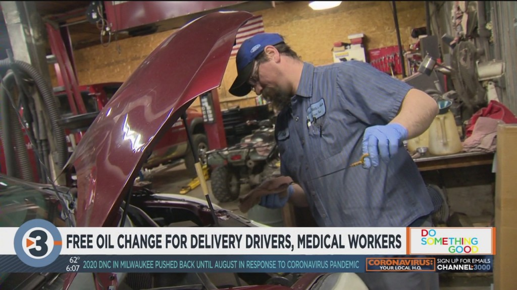 Free Oil Changes For Delivery Drivers, Medical Workers