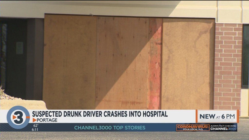 Man Accused Of Driving Drunk, Crashing Into Portage Hospital
