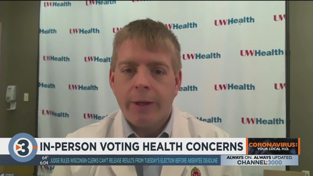 Uw Health Doctor Discusses In Person Voting Health Concerns