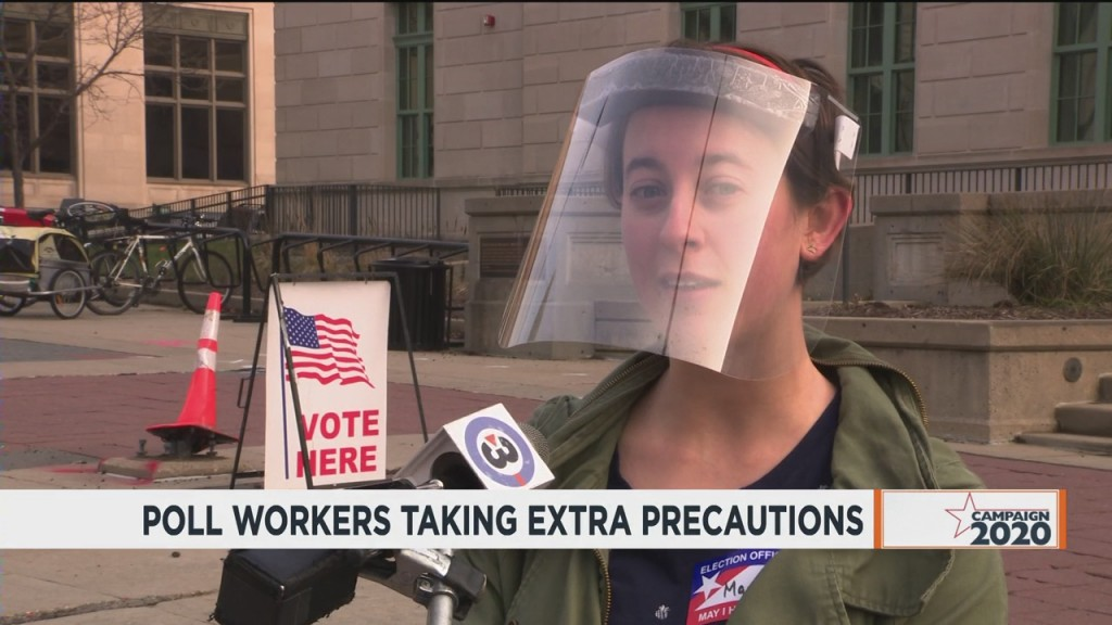 Poll Workers Taking Extra Precautions