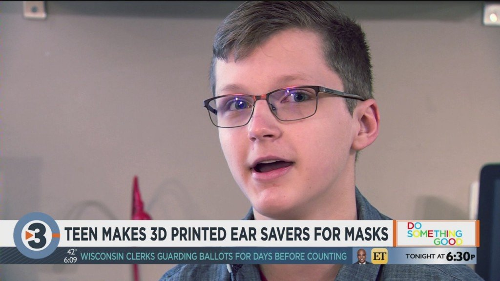Teen Makes 3d Printed Ear Savers For Masks