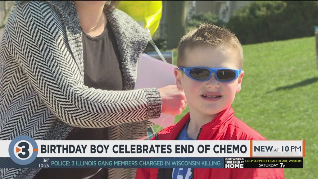 Birthday Boy Celebrates End Of Chemotherapy