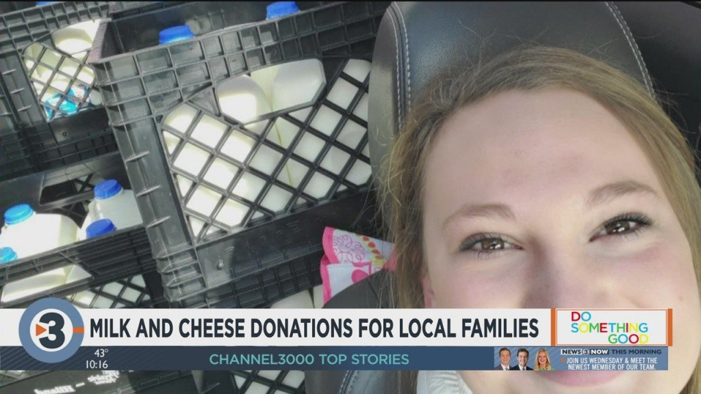 Milk And Cheese Donations For Local Families