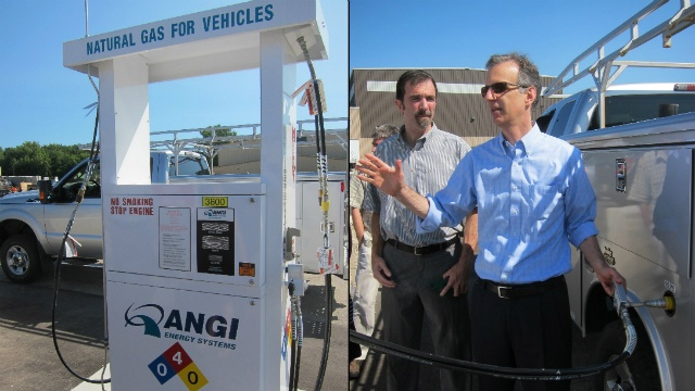 Dane County unveils new natural-gas fueling station