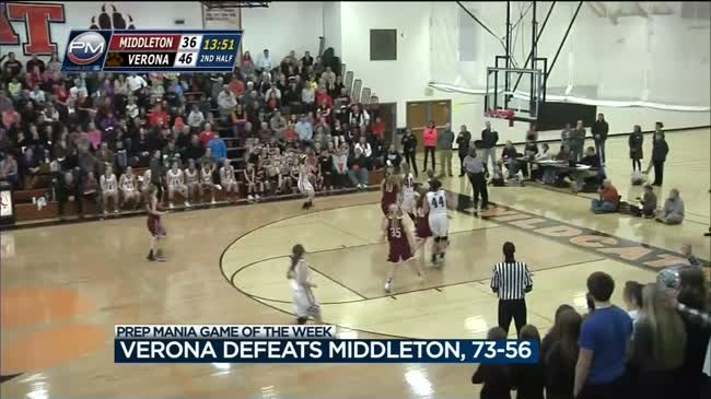 Verona clobbers Middleton to take lead in Big Eight