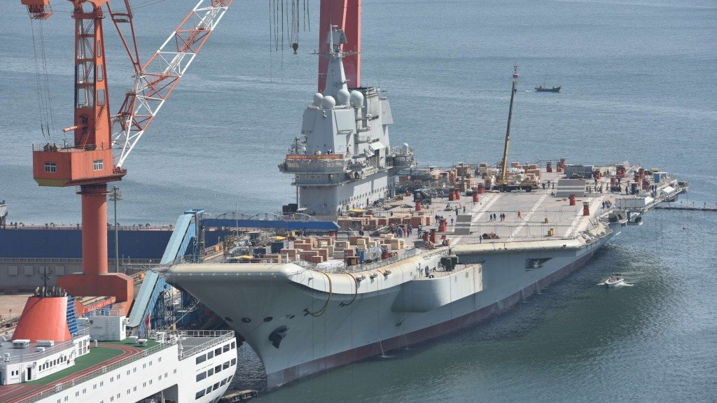 China's first homegrown aircraft carrier heads out for sea trial