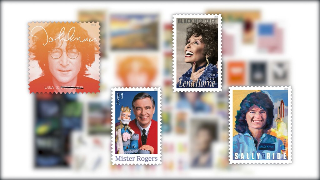 John Lennon, Sally Ride, Mr. Rogers: New USPS stamps for 2018