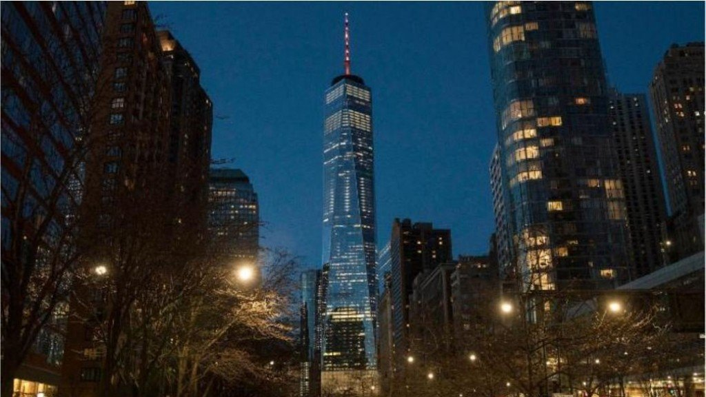 World Trade Center glows orange for the March for Our Lives rallies
