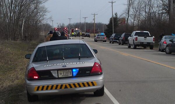 Woman hospitalized after striking gas tanker