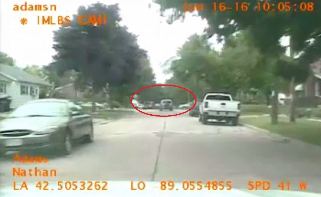 Convicted felon strikes two cars while fleeing from police