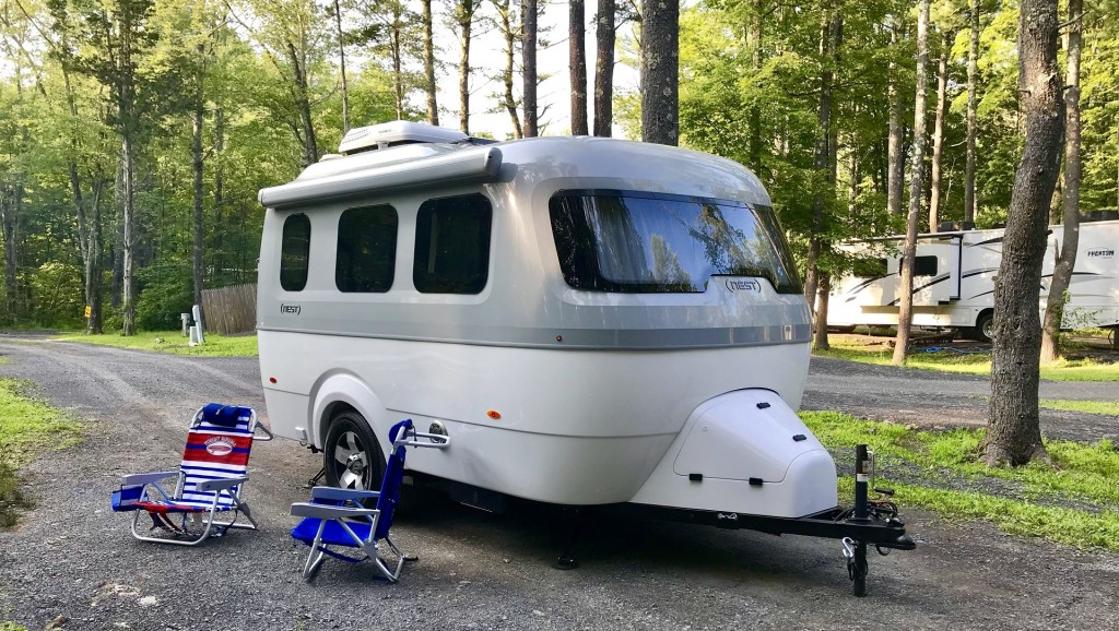 Camping for the first time in Airstream's tiny new luxury trailer