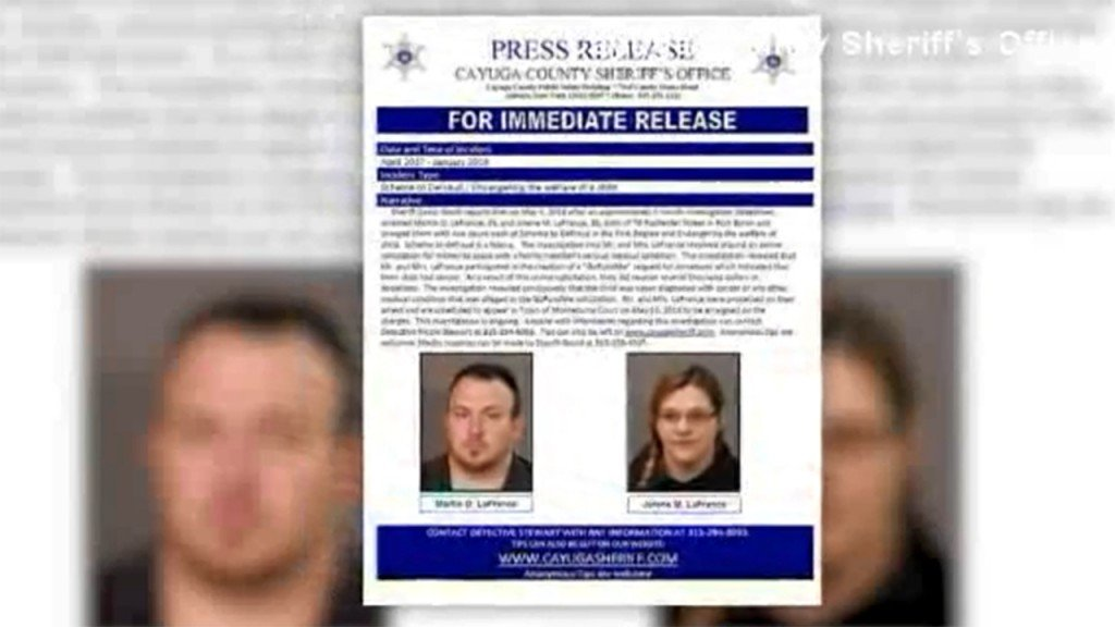 Couple arrested after faking son's cancer for donations