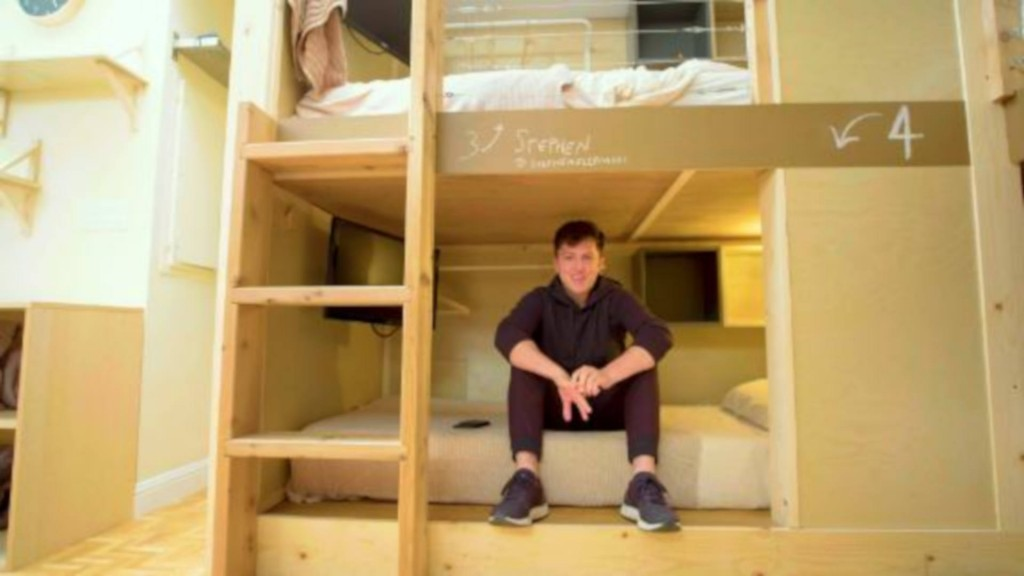 This bunk bed is $1,200 a month, privacy not included