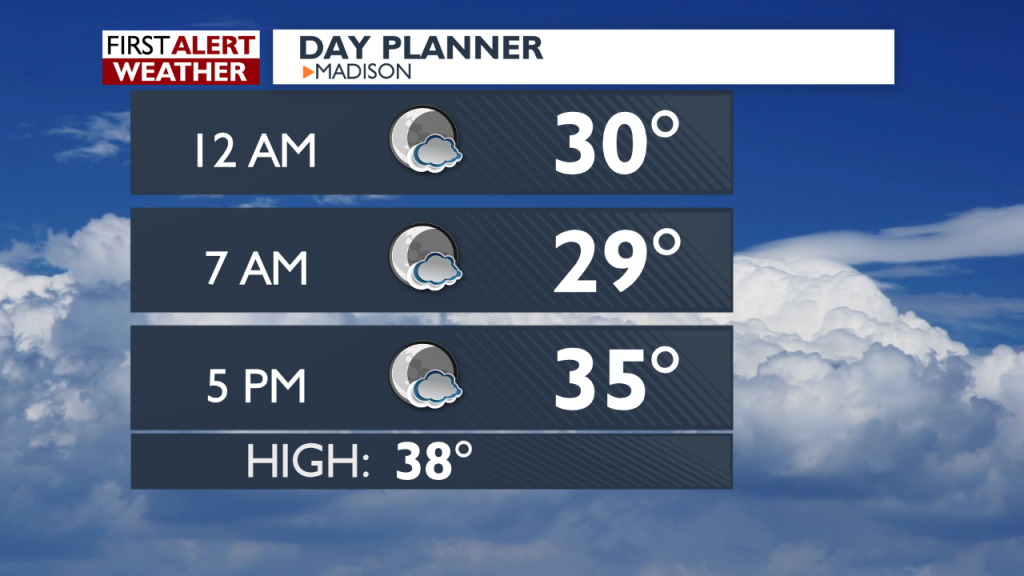 Overnight Forecast for December 3-4, 2019