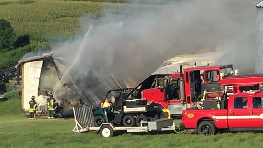 Barn destroyed in fire, $140,000 in damage
