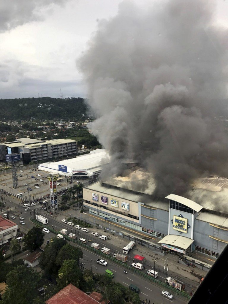 Philippines mall fire: Dozens feared dead
