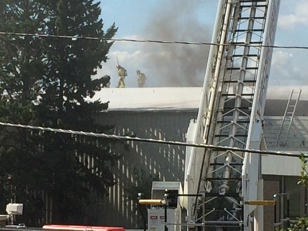 Mount Horeb lumberyard burns