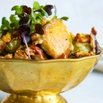 Roasted brussels sprouts dish.