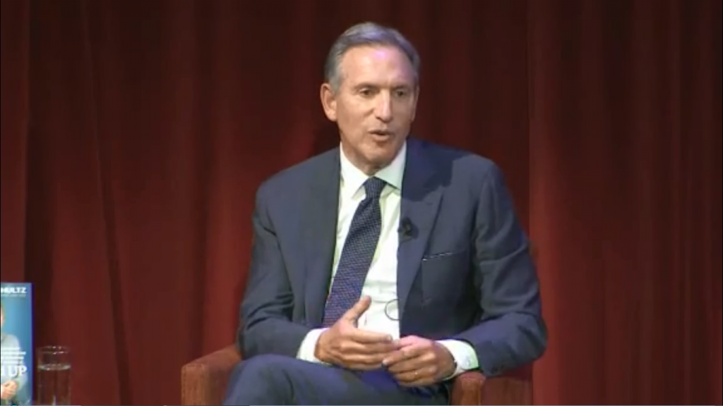 Howard Schultz apologizes after claim about military experience