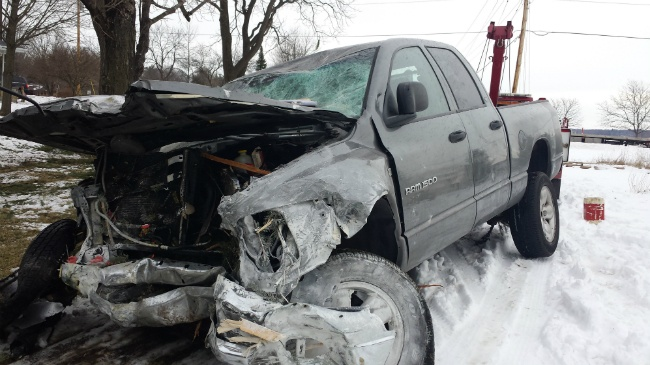 PHOTOS: Man rescues baby from stolen crashed truck