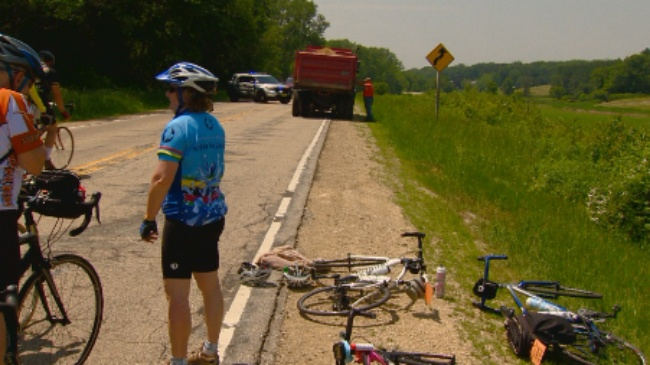 Former lawmaker involved in dump truck vs. bicycle crash