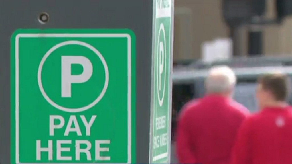 A metered parking space in downtown Madison
