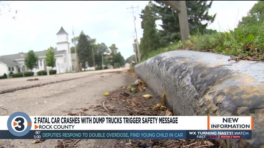 Rock County sees 2 fatal accidents with dump trucks in 2 days
