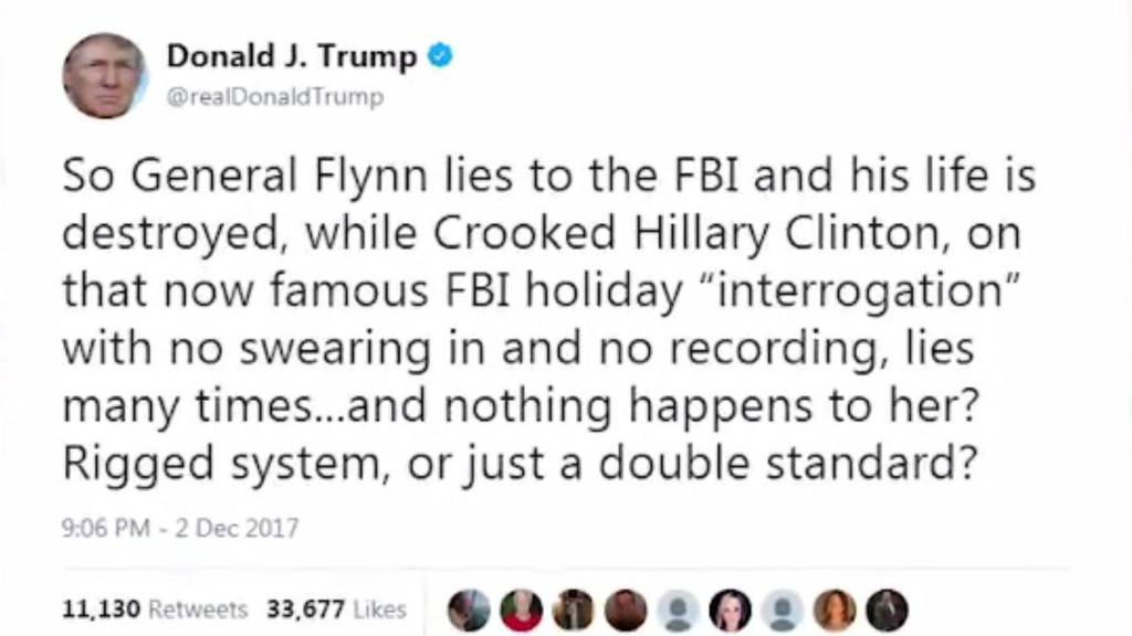 Trump slams DOJ and FBI in weekend tweetstorm