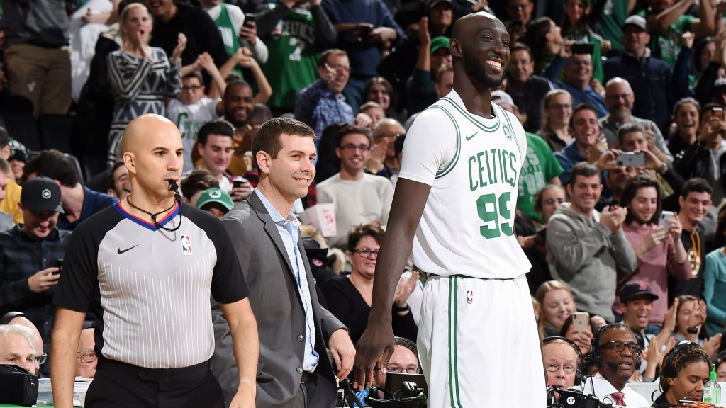 Celtics fans clamor for Tacko Fall and get him