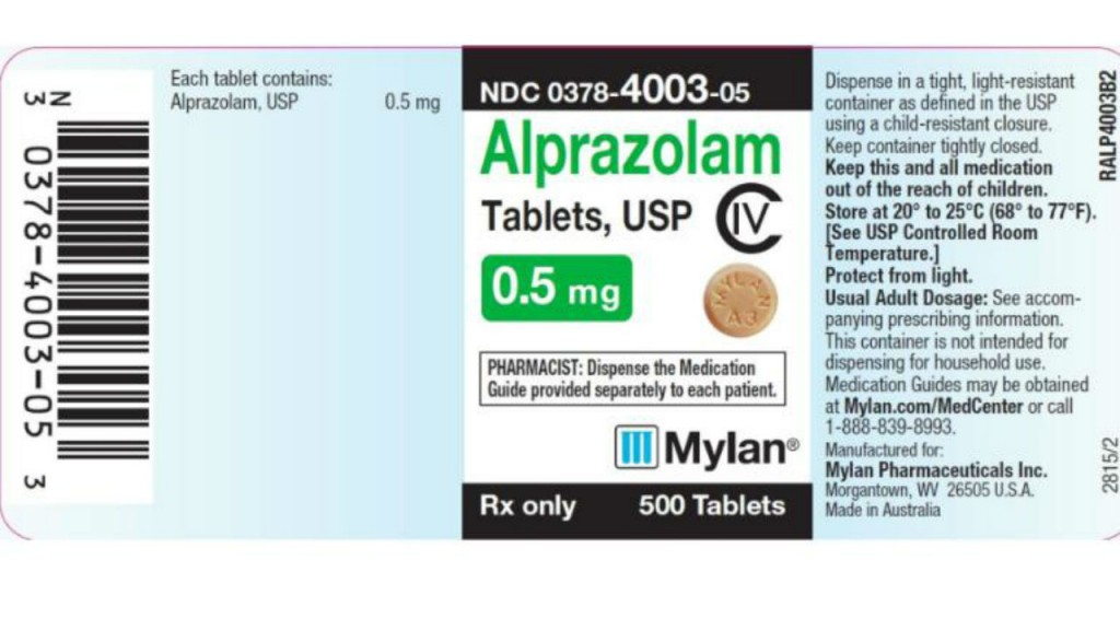 Anti-anxiety med recalled due to 'foreign substance'