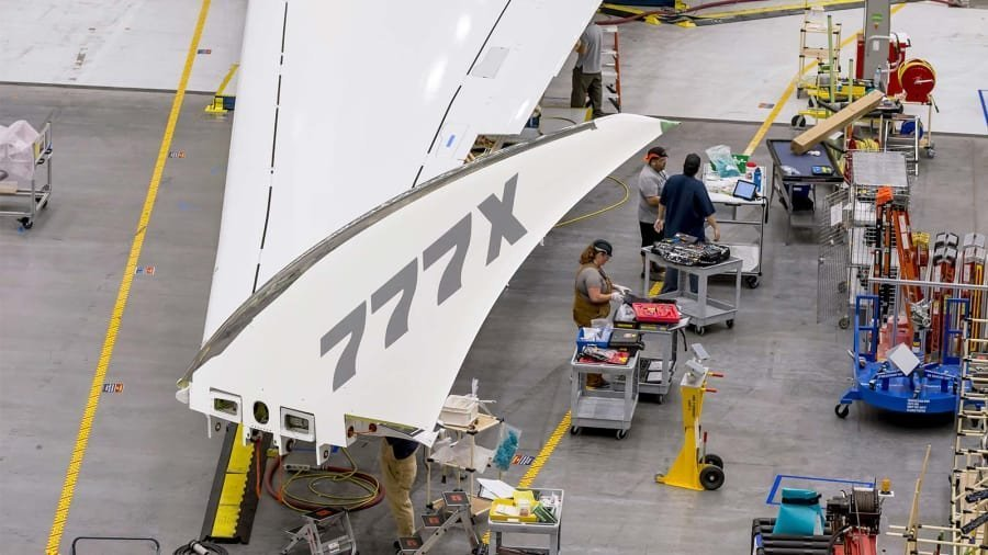 First look at folding wings on Boeing's 777X jetliner