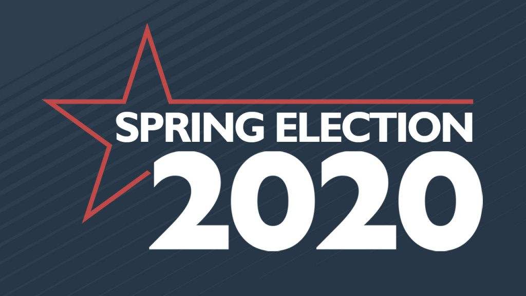 Spring Election 2020 graphic