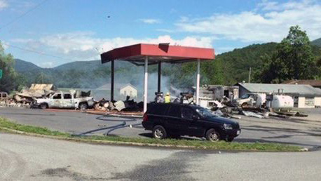 3 sets of human remains found after Virginia gas station explosion
