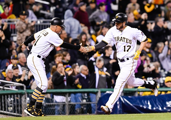 Joyce powers Pirates in win over Braves