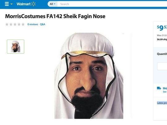 Walmart's 'Anti-Arab' halloween costumes far from only controversial looks