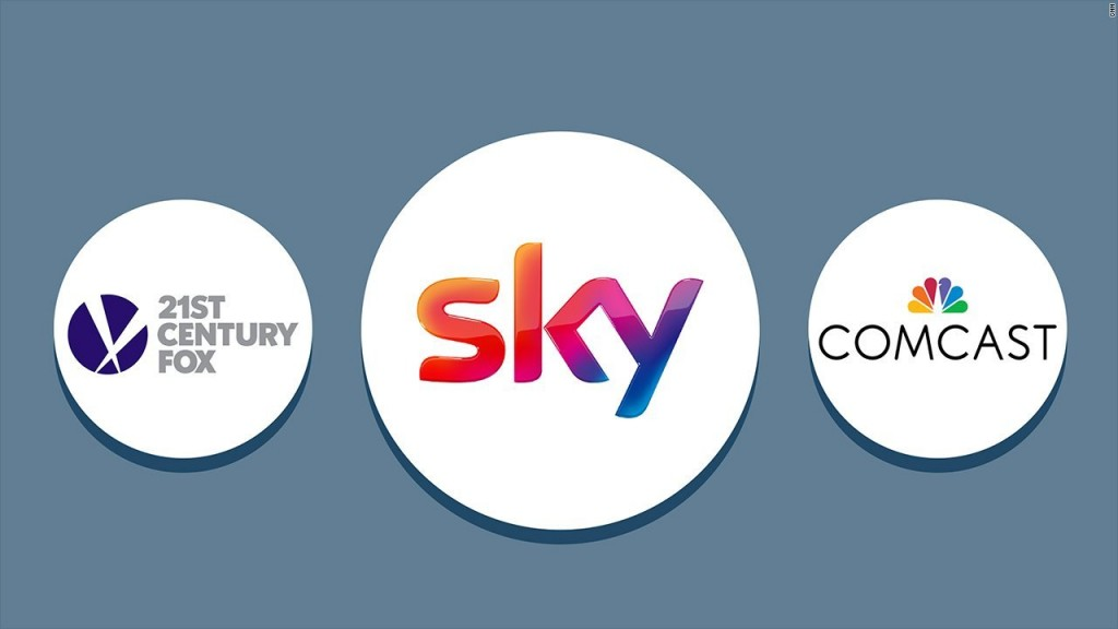 Comcast outbids 21st Century Fox for Sky