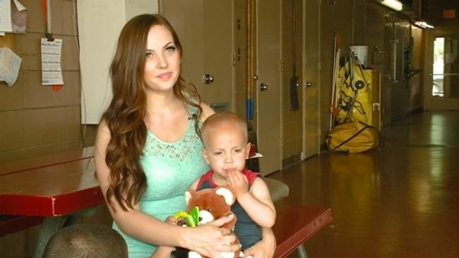 Toddler saved by mother's quick thinking